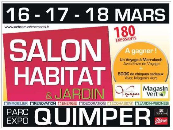 SALON de l'HABITAT à Quimper 16-17-18 mars 2019